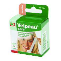 Sparadrap Velpeau® pore**Dim. 5 m x 2,5 cm.