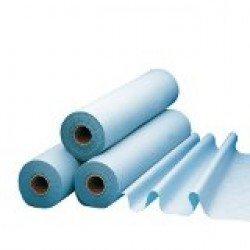 Draps d'examens bleus plastifiés (par 6 rouleaux)