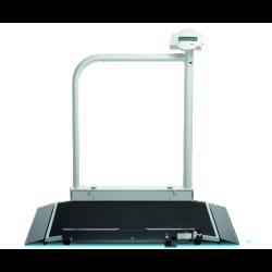 SECA 677* plateforme de pesée sans fil avec main courante et roulettes de transport pour fauteuils roulants (III)