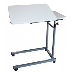 Table de lit double, coloris blanc