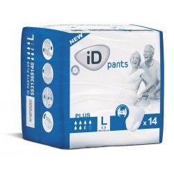 iD Pants - Taille: Large, Protection: Plus, le paquet de 14