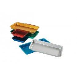 Plateau en aluminium coloré